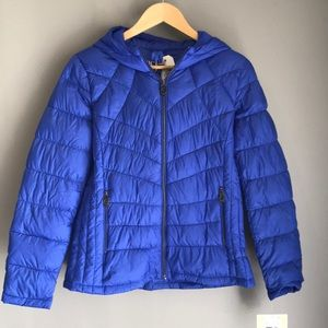 Michael Kors PM Hooded Quilted Down Puffer Coat